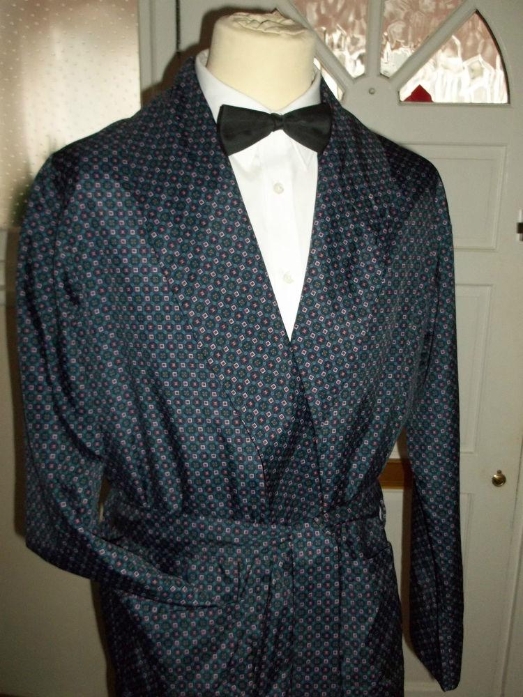 Vintage Mens Lloyd Attree & Smith Lightweight Smoking Jacket ...